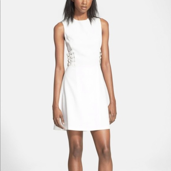 A.L.C. Dresses & Skirts - A.L.C White Buckle Dress 2 Corset Style